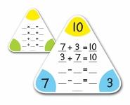 Math Fact Triangle Boards