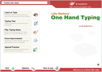 Lilly Walters' One Hand Typing Software