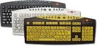 Keys-U-See: Large Print Keyboard (Black Keys)