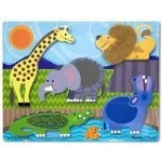 Touch and Feel Puzzle: Zoo Animals