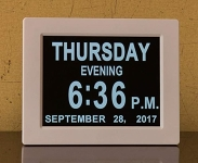 Easy-to-Read Digital Calendar Clock
