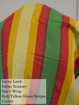 Lenny Lamb Wrap Yellow Orange Red Green Indian Summer, 100% Cotton DC Size 6