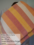 Merry Carry Wrap Orange/red/white stripes Size 5 (long)