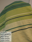 Natibaby Wrap Stripe Avocado green stripes 100% cotton Size 6