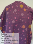 Didymos Wrap Dots Punti Pazzi/Purple with orange/pink dots Size 4