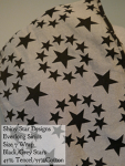 Shiny Star Wovens Wrap Everlong Sirius (black/grey stars) Tencel/Cotton Blend Size 7
