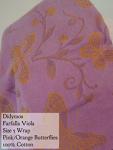 Didymos Wrap Pink/Gold Farfalla Viola (butterflies) 100% cotton Size 5