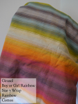Girasol Wrap Boy or Girl Rainbow Size 6 (short)