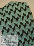 Natibaby Wrap Green & Black Milori / Chevron Size 6