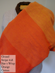 Girasol Wrap Orange stripes Size 7