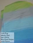 Little Frog Wrap Blue/green-Marine Opal Size 6