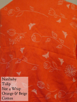 Natibaby Wrap Orange butterflies tulip Size 4