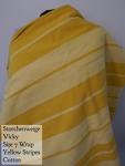 Storchenwiege Wrap Vicky - Cotton Yellow stripes Size 7