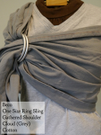 Beco Ring Sling Grey Gathered Shoulder VA Weekend Medium