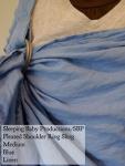 Sleeping Baby Productions/SBP Ring Sling Light blue Linen SBP Pleated Shoulder Medium