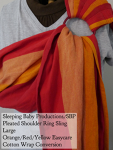 Sleeping Baby Productions/SBP Ring Sling Red-orange-Yellow Easycare WCRS SBP Pleated Shoulder VA Tuesday Large