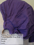 Sleeping Baby Productions/SBP Ring Sling Purple w/ bronze rings Linen, SBP Pleated Shoulder MD Saturday Medium