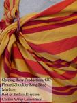 Sleeping Baby Productions/SBP Ring Sling Red/Yellow Easycare WCRS, SBP Pleated Shoulder Medium