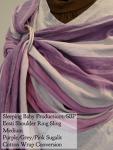 Sleeping Baby Productions/SBP Ring Sling Sugilit - Purple, pink, grey stripes LF WCRS Eesti Shoulder DC Medium