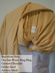 Beachfront Baby Water Ring Sling Golden Sand, Gathered Shoulder VA Weekend