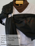 Comfy Joey Water Ring Sling Black Gathered Shoulder MD Saturday