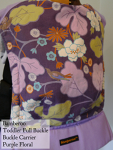 Bamberoo Full Buckle Purple Straps/ Floral Print Toddler