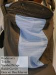 Kindercarry Kinderpack Grey with blue solarveil Toddler/STD
