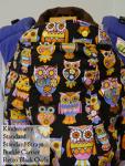 Kindercarry Kinderpack Retro Black Owls Standard/STD