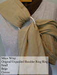Maya Wrap ring sling beige Small