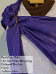 Beachfront Baby Wraps Purple Water Ring Sling DC