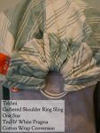 Tekhni Wrap Conversion Ring Sling - Pragma Teal Cotton