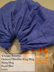Whisper Wovens Royal Blue Linen Ring Sling - for sizing NO CHECKOUTS