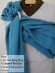 Beco Ring Sling Turquoise Gathered Shoulder VA Tuesday Medium