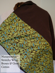 Nunamoochie Stretchy Brown with blue and green paisley pattern DC