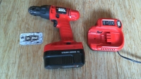 18V Cordless Drill charger - Black and Decker - Orange