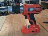 18V Cordless Drill - Black and Decker - Orange