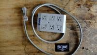 Power Bar - 6ft - 6 plugs - gray