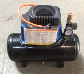 Air compressor 70-100 psi, max 3 Gal