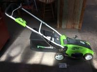 Greenworks elec lawn mower