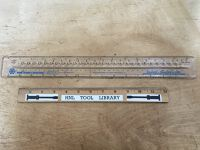 "15"" Clear Plastic Layout Ruler"