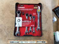 Husky 5 Piece Universal Ratcheting Wrench