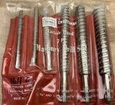 Craftsman Masonry 7 Piece Drill Bit Kit