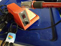 Soldering iron with stand