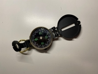 Lensatic engineer's directional compass