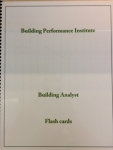 Building Performance Institute, Building Analyst, Flash Cards