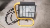 Single Standing Portable Halogen Worklight