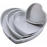 set of 4 heart-shaped cake pans