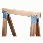 wooden folding sawhorse set
