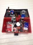 pipe cutters, brushes, connectors (box)