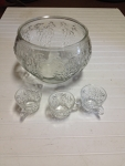 punch bowl and glasses set (12 pc.)